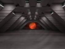 Сцена интерьера научной фантастики иллюстрация вектора