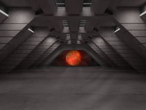 Сцена интерьера научной фантастики Стоковая Фотография RF