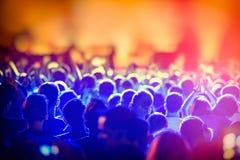 Сцена и толпа вентиляторов во время Стоковая Фотография RF