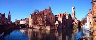 Сцена канала в Brugge Стоковое Фото