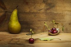 Сцена конспекта вишни натюрморта Стоковые Изображения RF