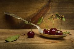 Сцена конспекта вишни натюрморта Стоковое Изображение
