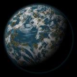 Сцена космоса фантазии планеты чужеземца Стоковые Фото