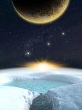 Сцена космоса фантазии планеты чужеземца Стоковая Фотография