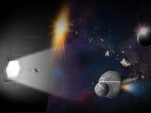 Сцена космоса фантазии планеты чужеземца Стоковые Изображения RF