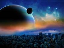 Сцена космоса чужеземца Стоковое Изображение