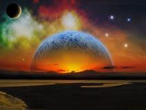 Сцена космоса чужеземца Стоковые Фото
