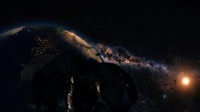 Сцена космоса CGI Стоковая Фотография RF