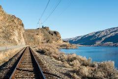 Сцена красоты Рекы Колумбия, взгляд от дороги в Вашингтоне Стоковые Изображения RF