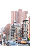 Сцена Манхаттан Нью-Йорк улицы Стоковые Изображения