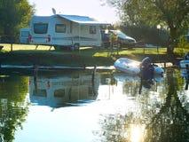 Сцена места для лагеря стоковое изображение
