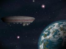Сцена научной фантастики планеты чужеземца Толкование художника Стоковая Фотография