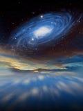 Сцена научной фантастики планеты чужеземца Толкование художника Стоковые Фото