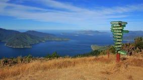 Сцена на следе ферзя Шарлотты, Новая Зеландия Стоковое Фото