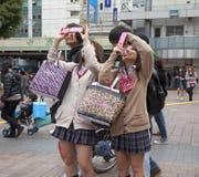 Сцена на Shibuya Стоковые Изображения