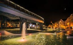Сцена ночи бульвара Марбельи Андалусии Испании San Pedro Стоковые Фото