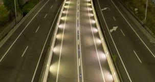 Сцена ночи движения и дорог Промежуток времени - долгая выдержка - 4K (13) акции видеоматериалы