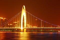 Сцена ночи в городе Гуанчжоу стоковое фото