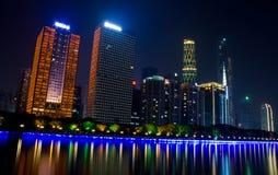 Сцена ночи в Гуанчжоу стоковое изображение rf