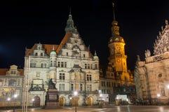 Сцена ночи в Дрездене стоковая фотография