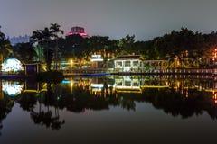 сцена ночи в парке Гуанчжоу Китая Стоковая Фотография