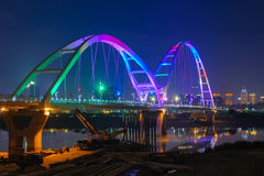 Сцена ночи города Тайбэя Стоковое Фото
