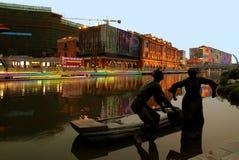 Сцена ночи города Стоковое Изображение RF