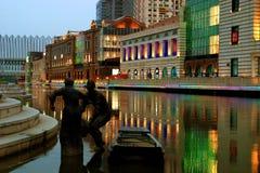 Сцена ночи города Стоковое фото RF