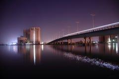 Сцена ночи города Cochin Стоковое Изображение RF