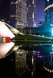 Сцена ночи городка Гуанчжоу Zhujiang нового в Гуанчжоу стоковая фотография rf