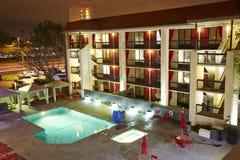 Сцена ночи гостиницы Стоковое Изображение