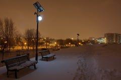 Сцена ночи зимы стоковое фото