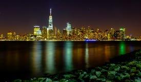 Сцена ночи Манхаттана Стоковая Фотография RF