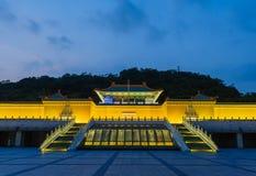 Сцена ночи музея национального дворца Стоковые Фотографии RF