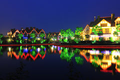 Сцена ночи недвижимости Стоковая Фотография