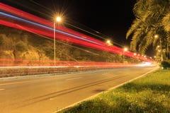 Сцена ночи дороги Xiamen Huandao, Китай Стоковые Фото