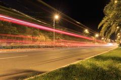Сцена ночи дороги Xiamen Huandao, Китай Стоковые Фотографии RF