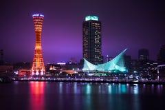 Сцена ночи порта Кобе Стоковая Фотография RF