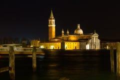 Сцена ночи Сан Giorgio Maggiore Стоковые Фото
