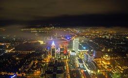 Сцена ночи Тайбэя (Tai Bei, Тайваня) Стоковая Фотография RF