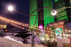 Сцена ночи Montréal Luminotherapy Стоковая Фотография