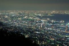 Сцена ночи Mount Fuji с передним планом пагоды и Сакуры Chureito Yama Стоковая Фотография