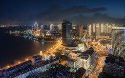Сцена ночи Qingdao стоковые изображения rf