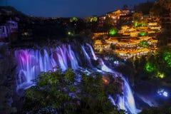 Сцена ночи Xibujie стоковая фотография rf