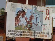 Сцена от Гвинеи-Бисау Стоковая Фотография