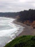 Сцена от побережья Орегона с пляжем Брайна Стоковая Фотография