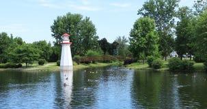 Сцена парка Веллингтона в Simcoe, Канаде 4K сток-видео