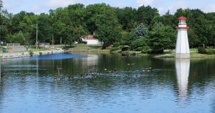 Сцена парка Веллингтона в Simcoe, Онтарио 4K видеоматериал