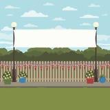 Сцена парка Великобритании иллюстрация вектора