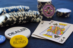 Сцена покера стоковые изображения